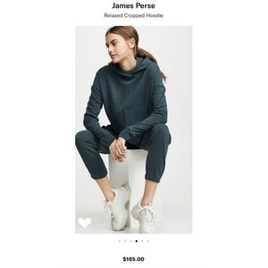 James Perse Relaxed Crop Hoodie. NWT. Retail- $168